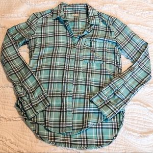 Hollister Blue Plaid Flannel XS